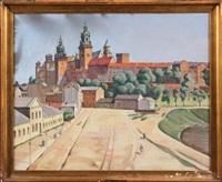 widok na zakole wisły i wawel by jakub pfefferberg