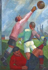 futbolistas en el llano by angel zárraga