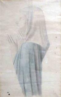 profil de sainte d'après ? by edgar degas