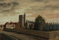 yalding church by john sell cotman