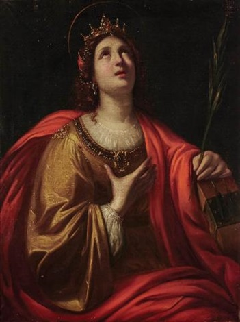 saint catherine of alexandria by guido reni on artnet