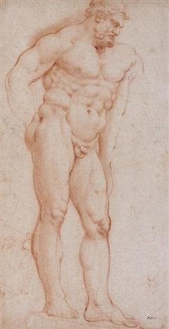 lhercule farnese feuille détude de jambes dhommes et de chevaux studies rectoverso by sir peter paul rubens