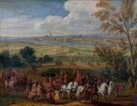 louis xiv arrivant à la prise d'aire-sur-la-lys by adam frans van der meulen