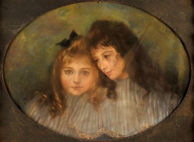 portrait de deux fillettes by amélie sauger