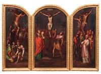 crucifixion (triptych) by nicolas de correa