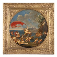 allegoria dell'aria (4 works) by francesco albani