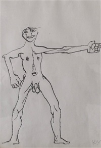 boy with outstretched arms by keith vaughan