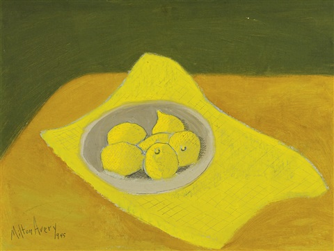 still life with lemons by milton avery