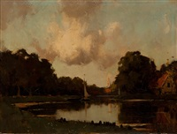 view of the river de vecht by nicolaas bastert