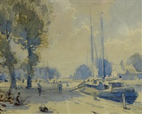 beccles norfolk by alfred crocker leighton