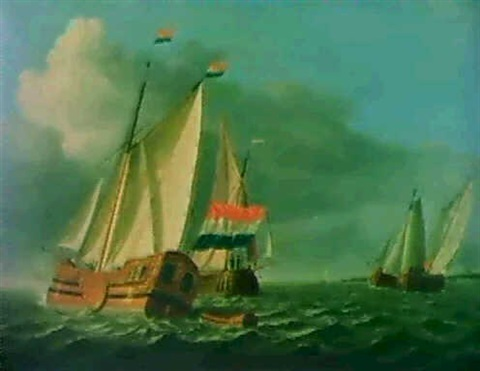 navires tirant des bords by ary van wanum