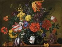 blumenstillleben in einer vase by jean-michel picart