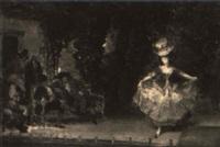 scène de cabaret ou la représentation by pierre outin