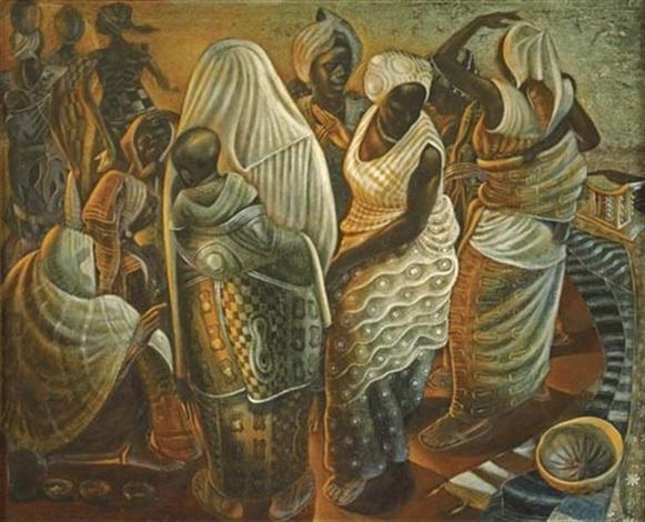 market women ghana by john thomas biggers