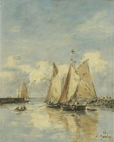trouville sortie des barques by eugène boudin