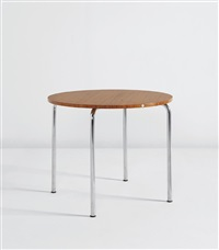 table, model no. mr 515 h by ludwig mies van der rohe