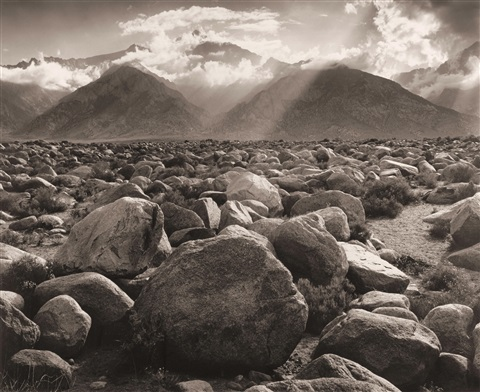 mount williamson sierra nevada from manzanar by ansel adams