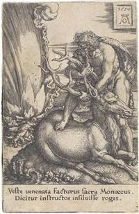 herkules und die hirschkuh by heinrich aldegrever