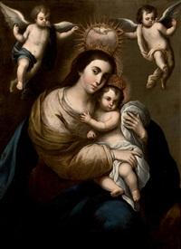 virgen con el niño by juan garzon