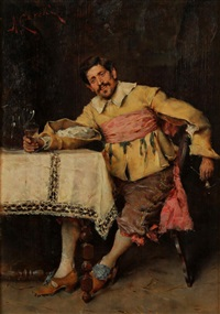 a man enjoying a glass of wine by adriano cecchi