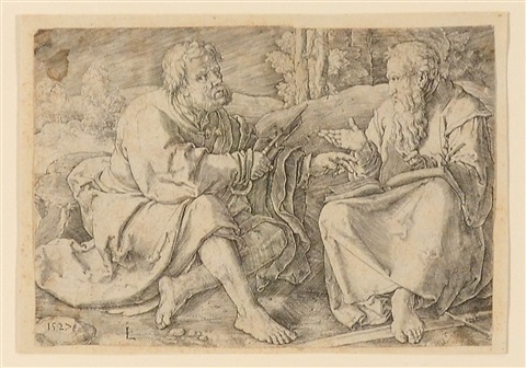 saint peter and paul in a landscape by lucas van leyden