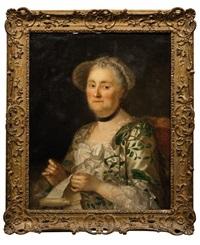 portrait de femme au travail by anna dorothea lisiewski