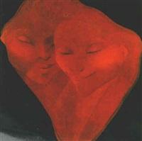 deux visages en ocre by bernard séjourné
