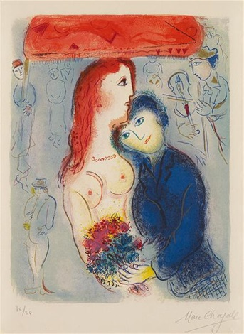 le mariage from cirque by marc chagall