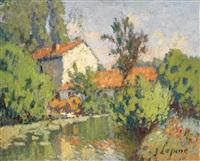 moulin au bord de l'eau by joseph louis lépine
