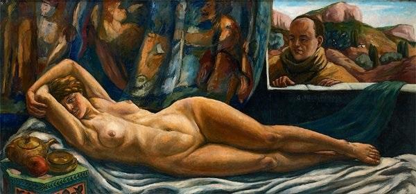 autoportrait et son modèle by pierre paul girieud