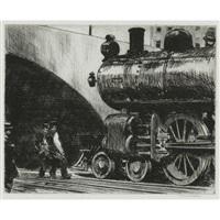 the locomotive by edward hopper