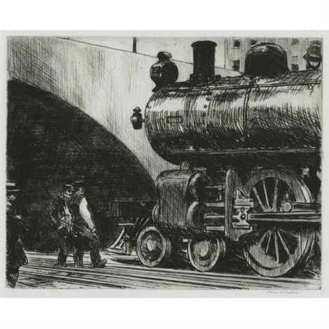 the locomotive by edward hopper