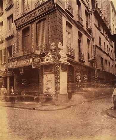 street of paris france by eugène atget