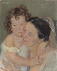 mother and child by armando spadini