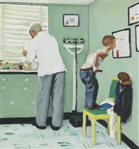 study for before the shot (the doctor's office) by norman rockwell