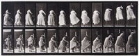 stepping on chair and reaching up, plate 457 (from animal locomotion) by eadweard muybridge