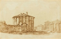 temple de la fortune virile et temple des vestales by gabriel perelle