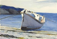 coast guard boat i by edward hopper
