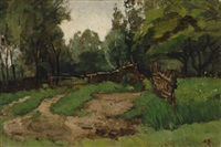landscape with a fence by nicolaas bastert