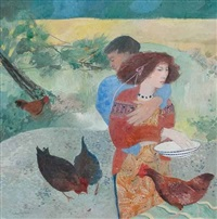 lovers and hens by brenda lenaghan