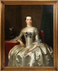 portrait of mrs. stephenson, mayoress of hull england by frans van der myn