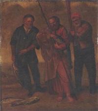 saint pierre trouvant dans la gueule d'un poisson l'argent du tribut by arent (cabel) arentsz