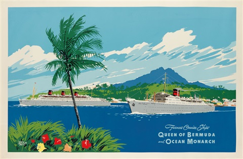FURNESS CRUISE SHIPS QUEEN OF BERMUDA AND OCEAN MONARCH By Adolph - Queen of bermuda cruise ship