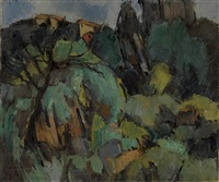landscape near grasse by hale aspacio woodruff