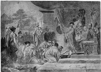 prisoners brought before an emperor by jean françois pierre peyron