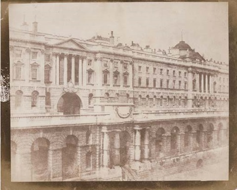 somerset house from waterloo bridge london by william henry fox talbot