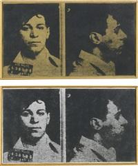 andy warhol, most wanted man, 1963 (2 works) by richard pettibone
