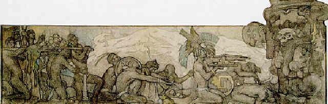 frisos de los dioses viejos by saturnino herran