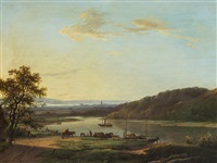 river landscape by marinus adrianus koekkoek the elder