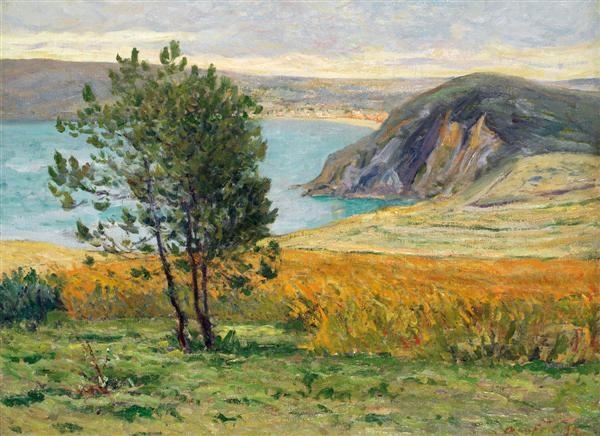 premières lueurs du matin les falaises près de morgat by maxime maufra